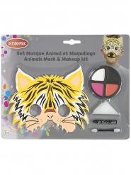 Tijger masker en schmink set voor kinderen