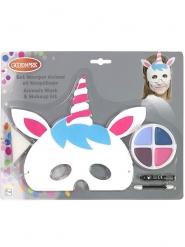 Eenhoorn masker en schmink set voor kinderen