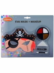 Piraat masker en schmink set voor kinderen