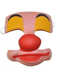 Plastic clown half masker voor volwassenen