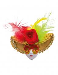Luxe Venetiaans masker broche met clip