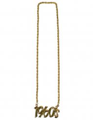 Goudkleurige 1960s halsketting voor volwassenen