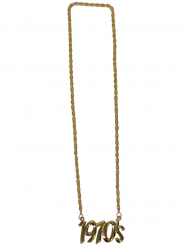 1970s goudkleurige halsketting voor volwassenen