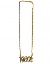 Goudkleurige 1980 halsketting voor volwassenen