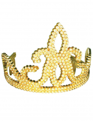 Goudkleurige strass tiara voor kinderen