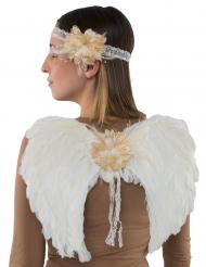 Engelen vleugels set en hoofdband voor volwassenen