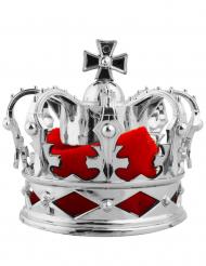 1 zilverkleurige mini kroon haarspeld