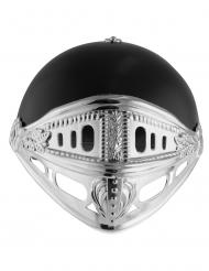 Zwarte en zilverkleurige ridder helm voor kinderen