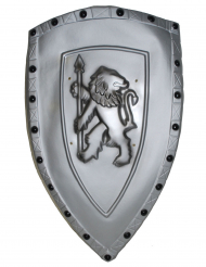 Grijs plastic leeuw schild