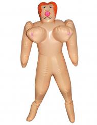 Opblaaspop met grote borsten