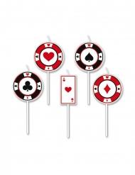 5 poker kaarsjes op prikker