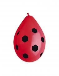 10 rode latex voetbal ballonnen
