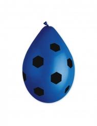 10 blauwe latex voetbal ballonnen