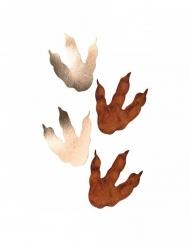 6 bruine en goudkleurige dinosaurus afdrukken