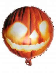 Oranje aluminium pompoen hoofd ballon