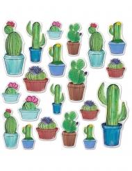 20 kartonnen cactus cut outs