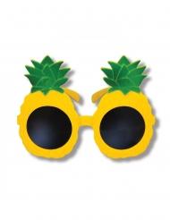 Gele ananas bril voor volwassenen