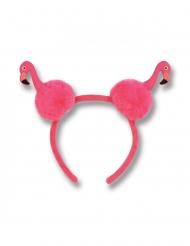 Roze haarband met flamingo