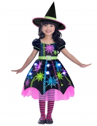 Veelkleurig spin heks kostuum voor meisjes