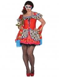 Dia de los Muertos kostuum voor dames - grote maten