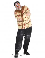 Gestoorde dwangbuis clown kostuum voor mannen