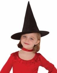 Zwarte klassieke heksenhoed voor meisjes