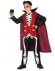Skelet vampier graaf kostuum voor jongens