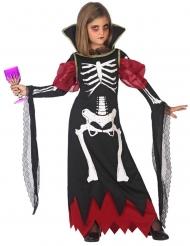 Skelet vampier gravin kostuum voor meisjes