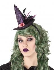 Paarse heksenhoed haarband voor volwassenen