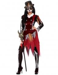 Rode voodoo heks outfit voor dames