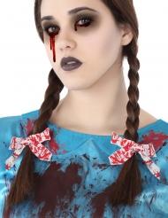 Bloederige witte haar strikjes voor volwassenen
