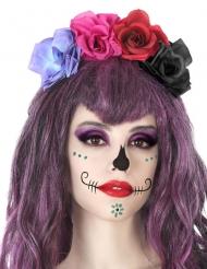 Veelkleurige Dia de los Muertos haarband voor volwassenen