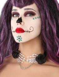 Dia de los Muertos skelet handen ketting voor volwassenen