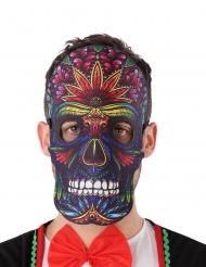 Dia de los Muertos nepleer en vilt masker voor volwassenen