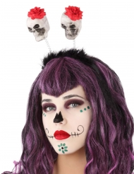 Dia de los Muertos doodskop haarband voor volwassenen