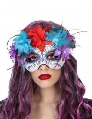 Veelkleurige Dia de los Muertos masker voor volwassenen