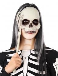 Skelet masker op stokje voor volwassenen
