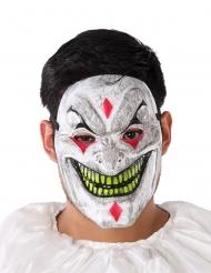 Plastic demonische clown masker voor volwassenen