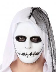 Wit gehechte mond masker voor volwassenen