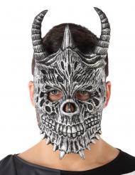 Grijs draken masker voor volwassenen
