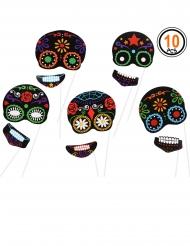 10 Dia de los Muertos photobooth accessoires