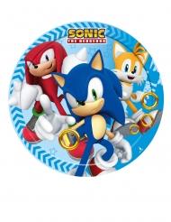 8 Kleine kartonnen Sonic™ bordjes 18cm