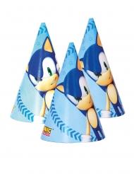 6 kartonnen Sonic™ feesthoedjes