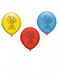 8 latex rode, gele en blauwe Sonic™ ballonnen
