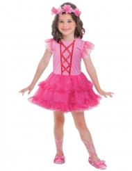 Klein roze ballerina kostuum voor meisjes