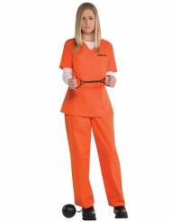 Oranje gevangenis outfit voor dames