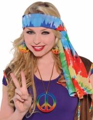 Gekleurde hippie hoofdband voor volwassenen