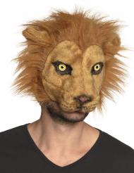 Pluche leeuw masker voor volwassenen