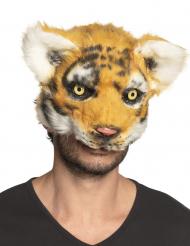 Pluche tijger masker voor volwassenen
