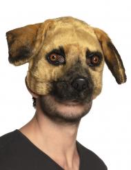 Pluche hond masker voor volwassenen